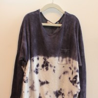 NAVY TYE DYE ROUNDED TOP 1