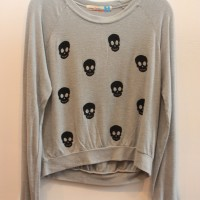 ALL OVER SKULL SWEATER 1