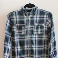 L/S PLAID SHIRT WITH HOOD 1